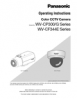 WV-CP300 Series, WV-CF344 Series Operating Instructions (English)