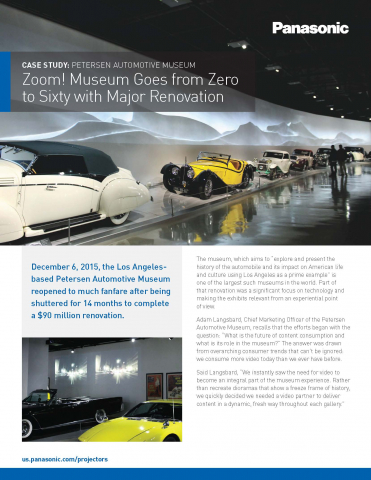 Petersen Automotive Museum Case Study